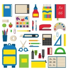 School supplies vector image