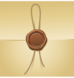 sealing wax and letter vector image vector image