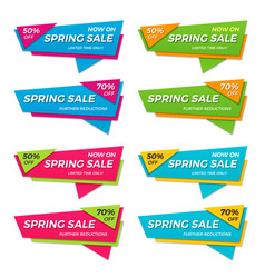 set of spring sale labels price tags banners vector image