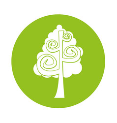 Tree plant drawing icon vector