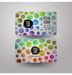 watercolor colorfull dots paint card design vector image vector image