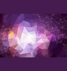 3d abstract polygonal space purple background vector image