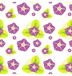 A background with violet flowers vector image