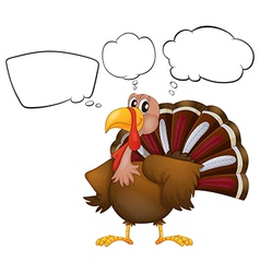 A turkey with empty thoughts vector image