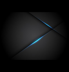 abstract blue light line cross shadow on black vector image