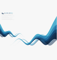 abstract blue wavy line tech decoration brochure vector image
