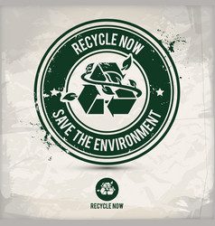alternative recycling stamp vector image