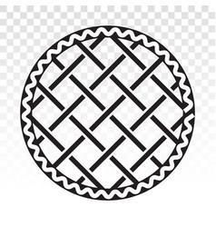 Apple pie cherry pie - line art icons for apps vector