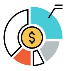 Asset allocation flatoutline vector
