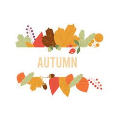 Autumn design in composition vector