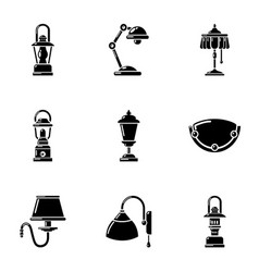 Backlight icons set simple style vector