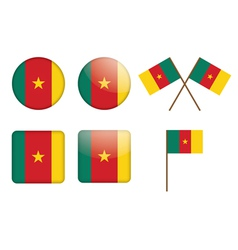 badges with flag of Cameroon vector image