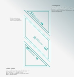 Bar infographic template askew divided to three vector