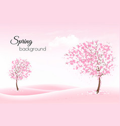 beautiful spring nature background with a vector image