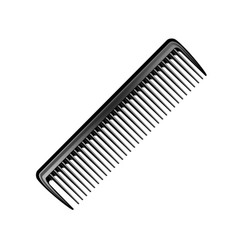 Black plastic pocket hair brush comb isolated vector