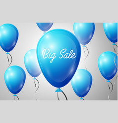Blue balloons with an inscription big sale sale vector