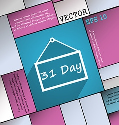 Calendar day 31 days icon symbol Flat modern web vector