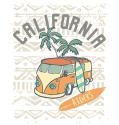 California riders label design for posters t vector