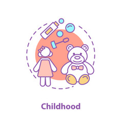 childhood concept icon vector image