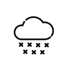 cloud with rain drop icon vector image