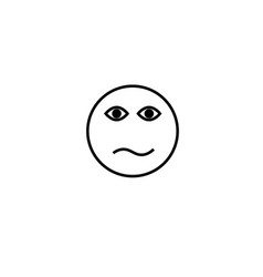 Confused emotion icon vector