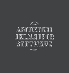 Decorative serif bulk font vector