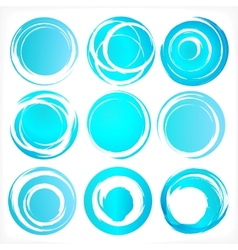 Design elements in blue colors icons Set 3 vector