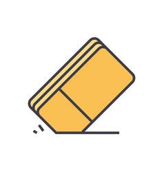 eraser flat line concept vector image