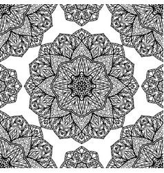 filigree pattern mandalas vector image