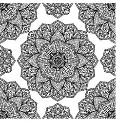 filigree pattern of mandalas vector image