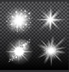 flash stars set on transparent background vector image