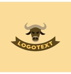 Flat icon on background bull logo vector