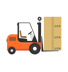 forklift with box vector image