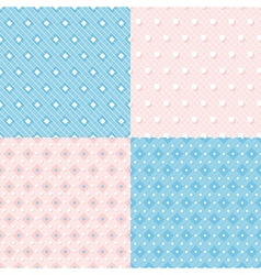 Geometric colorful seamless patterns vector