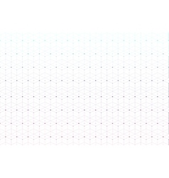 Geometric pattern with connected lines and dots vector