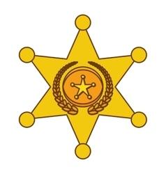 gold police bradge icon design vector image