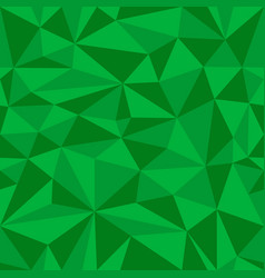 green geometric seamless pattern from triangles vector image