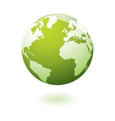 Green icon earth gel vector