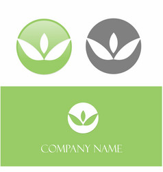 Green logoleaf vector
