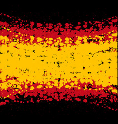 grunge blots spain flag background vector image