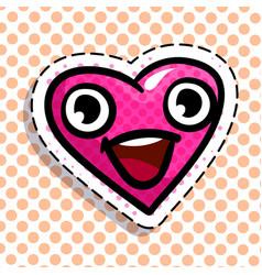 Happy red heart vector