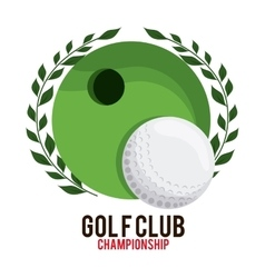 Hole and ball icon Golf sport design vector