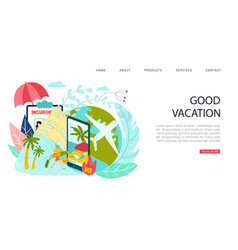 hot travel tour good vacation inscription on vector image