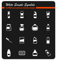 houshold chemicals icons set vector image