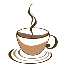 Icon of cup of coffee vector
