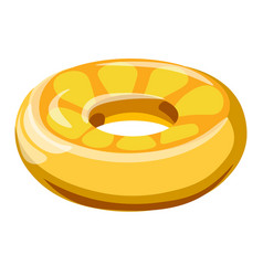 Inflatable balloon or lifebuoy in form orange vector