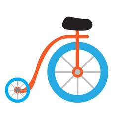 isolated carnival bicycle icon vector image