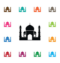 isolated religious icon muslim element can vector image