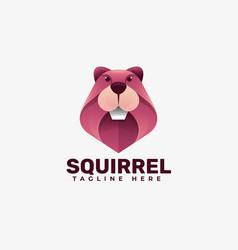 Logo squirrel gradient colorful style vector