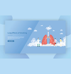 lungs smoke cigarette concept for website vector image